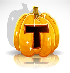 Halloween pumpkin t vector