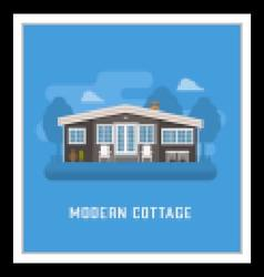 Modern cottage or rural house vector