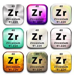 A zirconium element vector