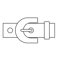 Belt with buckle icon outline style vector