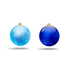 Blue Christmas tree balls Isolated vector image