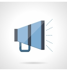 Blue megaphone flat icon vector image