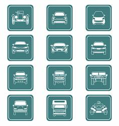 cars icon-set vector image