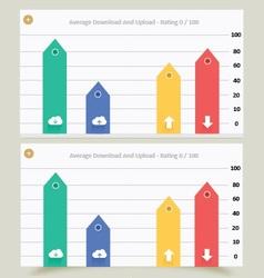 Cloud download upload graph vector