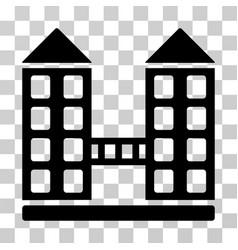 Company building icon vector