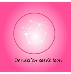 Dandelion pink icon vector image vector image
