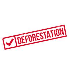 deforestation rubber stamp vector image