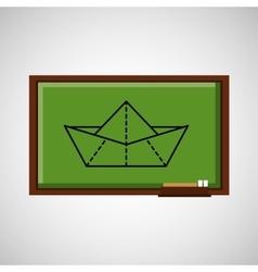 education concept blackboard creativity vector image vector image