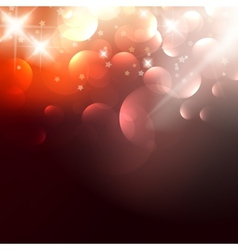 Elegant Christmas background with golden stars vector image