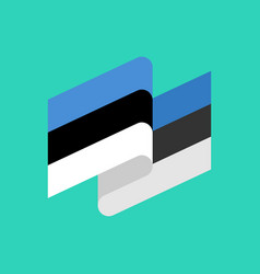 Estonia flag ribbon isolated estonian tape banner vector