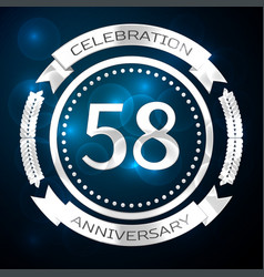 Fifty eight years anniversary celebration with vector