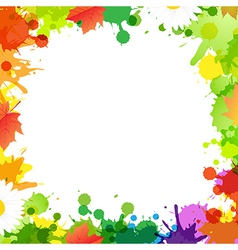 Frame With Blob And Leaves vector image
