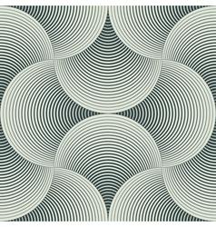 geometric petals vector image vector image