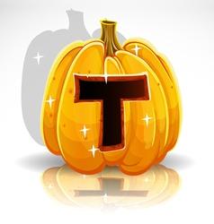 Halloween Pumpkin T vector image vector image