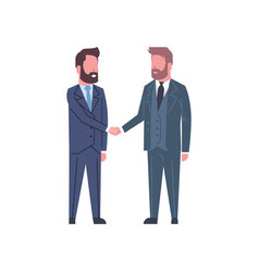 hand shake concept two business men shaking hands vector image vector image