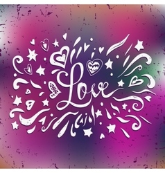 Happy Valentines card with lettering text love on vector image