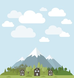 House in mountains vector image vector image