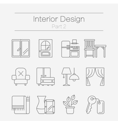 Interor desig icons isolated vector