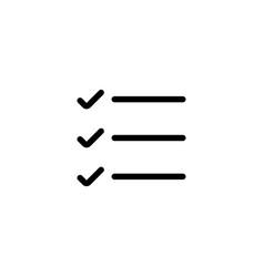 line simple list checklist icon vector image vector image