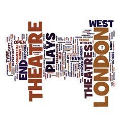 London theatre text background word cloud concept vector