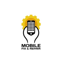 Mobile repair logo vector image
