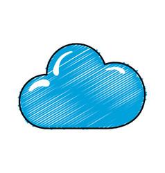 Nice cloud weather of sky vector