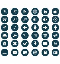round icons set vector image