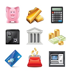 set bank vector image vector image