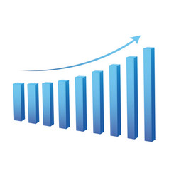 Statistic graph business data vector