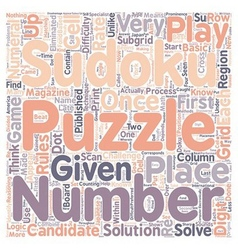 Sudoku rules text background wordcloud concept vector