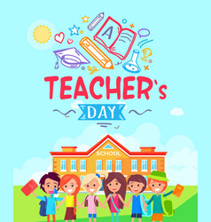 teachers day promotional vector image