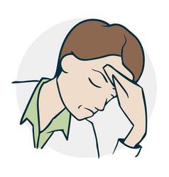 The person headache vector