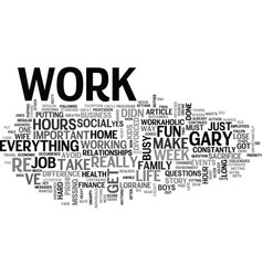 Why are you so busy text word cloud concept vector