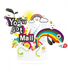 you've got mail vector image vector image