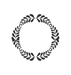 Wreath crown decoration icon graphic vector