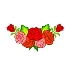Decoration with mexican flowers vector image