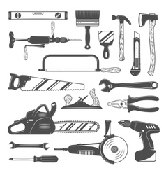 Work tools monochrome set vector