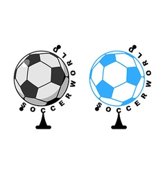 World football Globe ball game Sports accessory as vector image