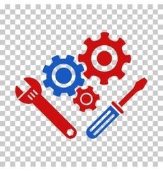 Mechanics tools icon vector