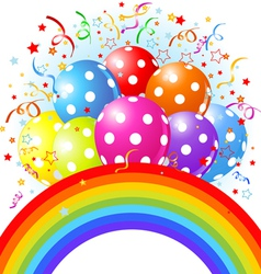 14balloons rainbow001 vector image vector image