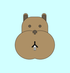 Animals on stylish background hippo face vector