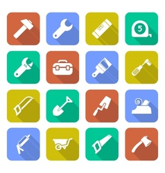 Tools icons with shadows vector