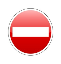 No entrance sign red vector
