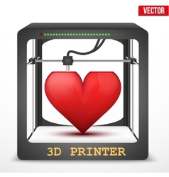 Heart transplant 3d printer for the internal vector