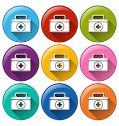 Medical box icons vector