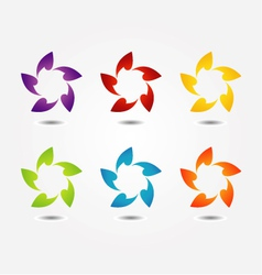 Stylized flower design element vector