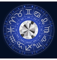 Set of symbol zodiac sign diamond vector