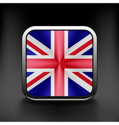 Uk icon flag national travel icon country symbol vector