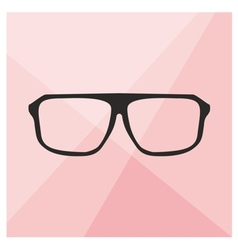 Glasses on pink background vector