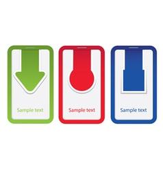 tag label arrow set vector image